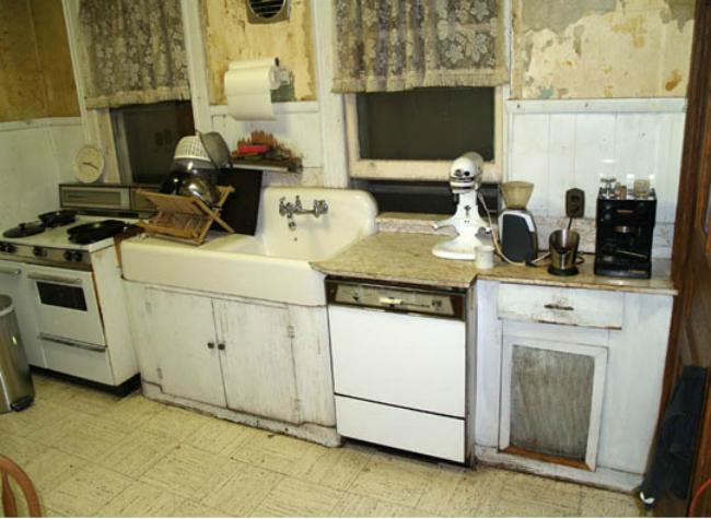Cocina victoriana de 100 años