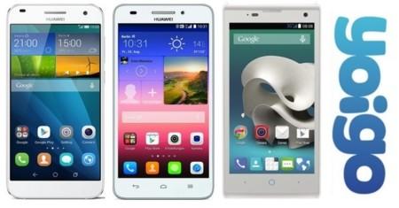 Precios Huawei Ascend G7, Huawei Ascend G620s y ZTE Blade G lux con Yoigo