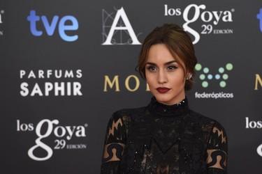 Megan Montaner con un total look black de Emilio Pucci en los Goya 2015