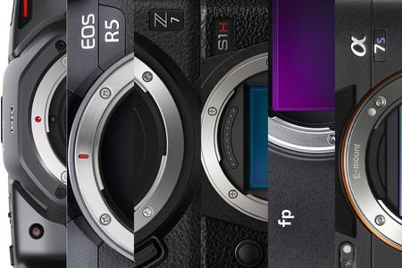 Comparativa de prestaciones en vídeo: Sony A7S III, Canon EOS R5, Panasonic Lumix DC-S1H, Nikon Z7, Blackmagic PCC 6K, Sigma FP