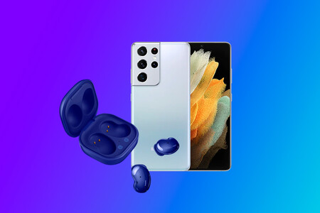 El potentítismo Samsung Galaxy S21 Ultra 5G tiene de regalo los auriculares sin cables Galaxy Buds Live por 1.259 euros en Amazon
