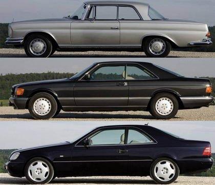 La evolución de los coupés de Mercedes, desde 1952 a 2006