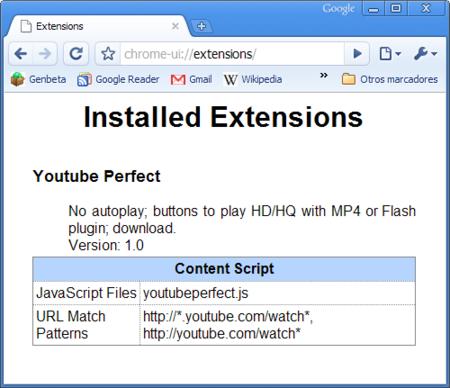 Primeras extensiones para Google Chrome