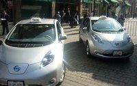 Taxis eléctricos y estaciones de carga para el D.F.