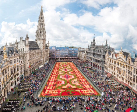 Este año toca ver la alfombra floral de Bruselas