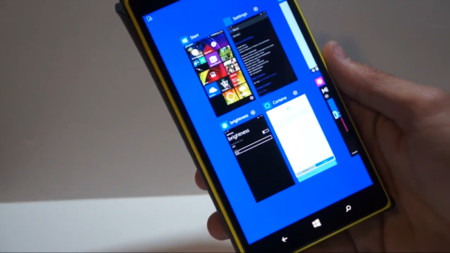 Así lucen en vídeo las novedades exclusivas para phablets de la build 10051 de Windows 10