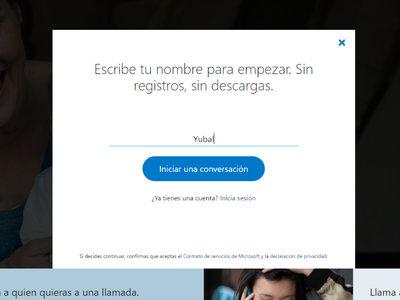 Ya puedes utilizar Skype como invitado sin registrarte ni tener que descargarlo