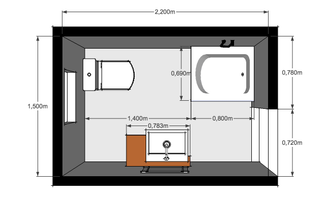 Baño Medidas Estandar:Diseño y distribución de baños: cuatro criterios para acertar