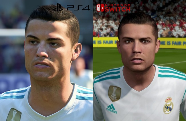 Ronaldo diferencias fifa ps4 y fifa switch