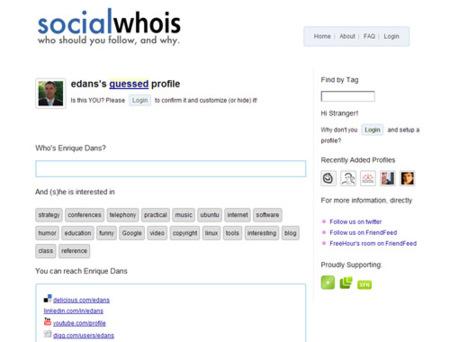 SocialWhois, sepa más de quien te quiere seguir en las redes sociales