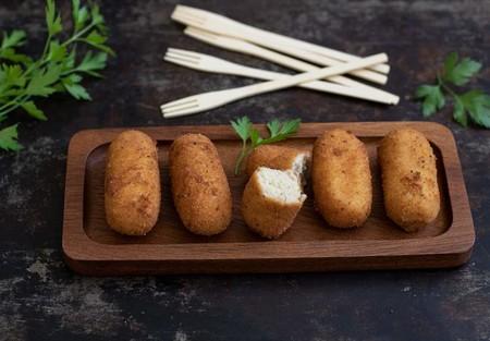Croquetas De Pure De Patata Y Pollo Asado