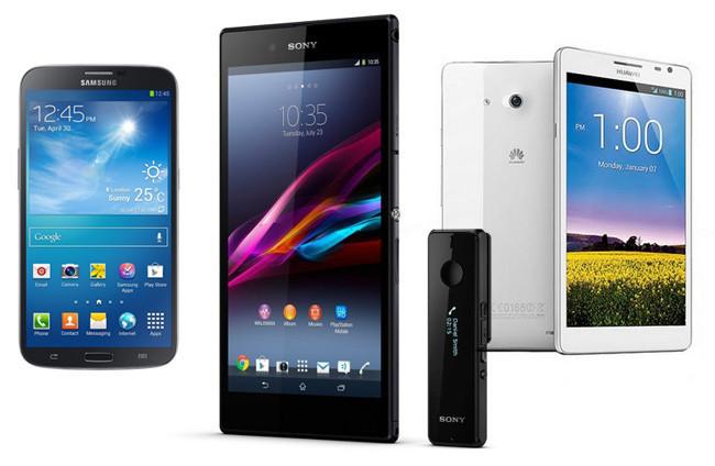 6195161dd0fdf Sony Xperia Z Ultra frente a Samsung Galaxy Mega 6.3 y Huawei Ascend Mate