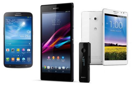 Sony Xperia Z Ultra frente a Samsung Galaxy Mega 6.3 y Huawei Ascend Mate