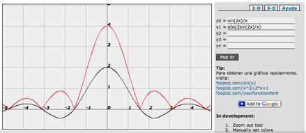 FooPlot, otra calculadora web con gráficos