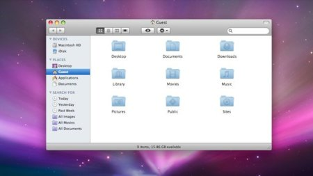 apple mac os x leopard escritorio finder