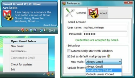 Gmail Growl para Windows