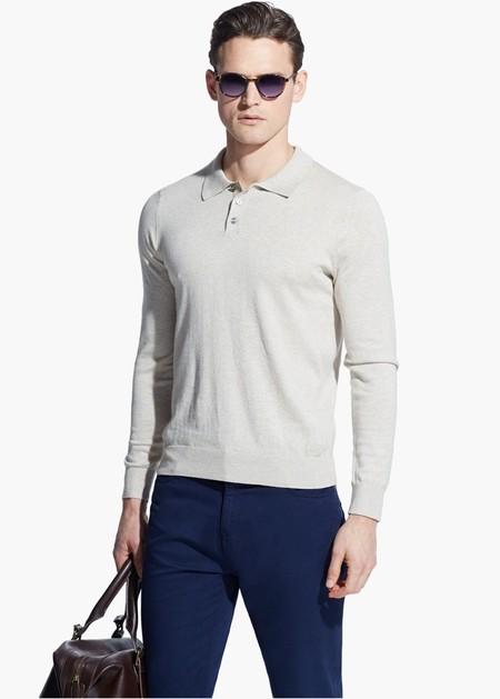 Jersey con cuello polo