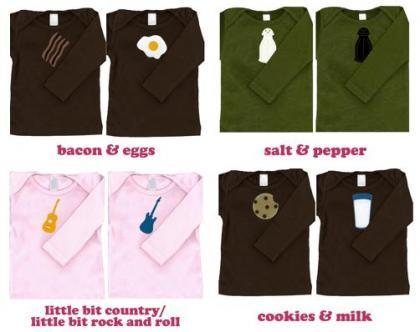 Simpáticas camisetas para mellizos