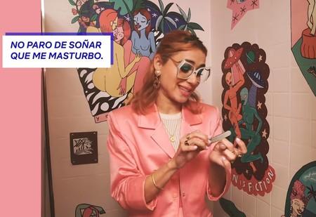 Sentada en un retrete, Miranda Makaroff habla de sexo para Netflix España