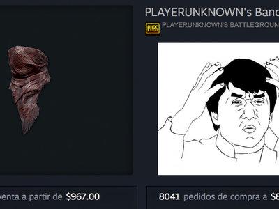 Hay gente pagando 1.000 dólares por un pañuelo de PlayerUnknown's Battlegrounds