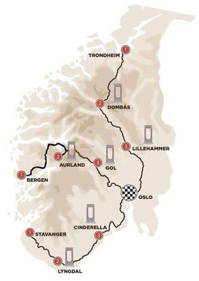 Norway Tesla Superchargers Routes