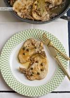 Chuletas de cerdo con alcaparras y anchoas. Receta