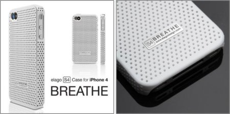 elago S4 Breathe, funda perforada para el iPhone 4