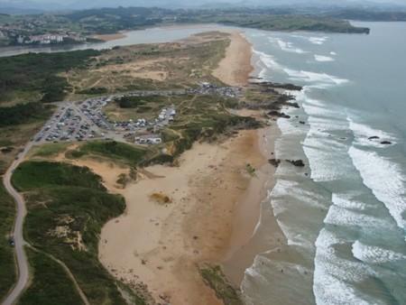 Playa De Canavalle Y Valdearenas Al Fondo Liencres