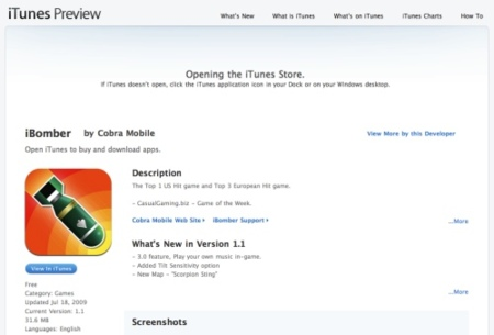 iTunes escaparate permite ahora ver toda la información de una aplicación