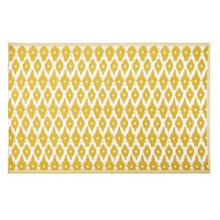 Alfombra De Exterior Amarilla Con Motivos Decorativos Blancos 180x270 1000 0 3 188972 1
