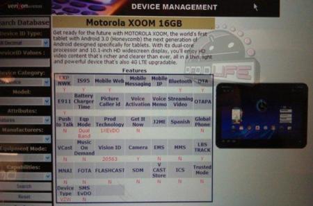 ¿Motorola Xoom de 16GB en camino?