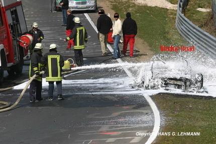 Audi R8 V10 ardiendo