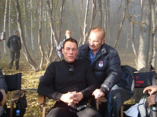 Jen Claude Van Damme en el rodaje de 'Los Mercenarios 2'