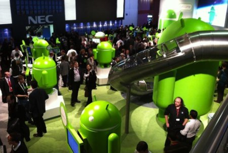 stand google android mobile world congress evento congreso barcelona