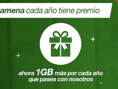 Amena premia a sus fieles: 1 GB extra al mes por cada año que cumplan como clientes