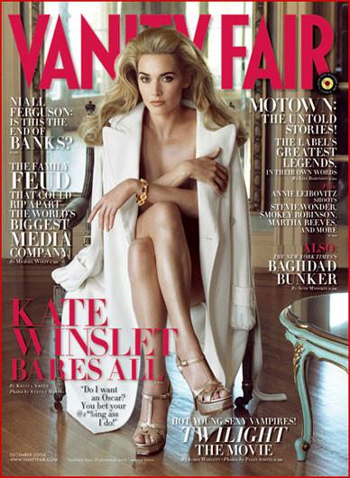 Kate Winslet se desnuda para Vanity Fair