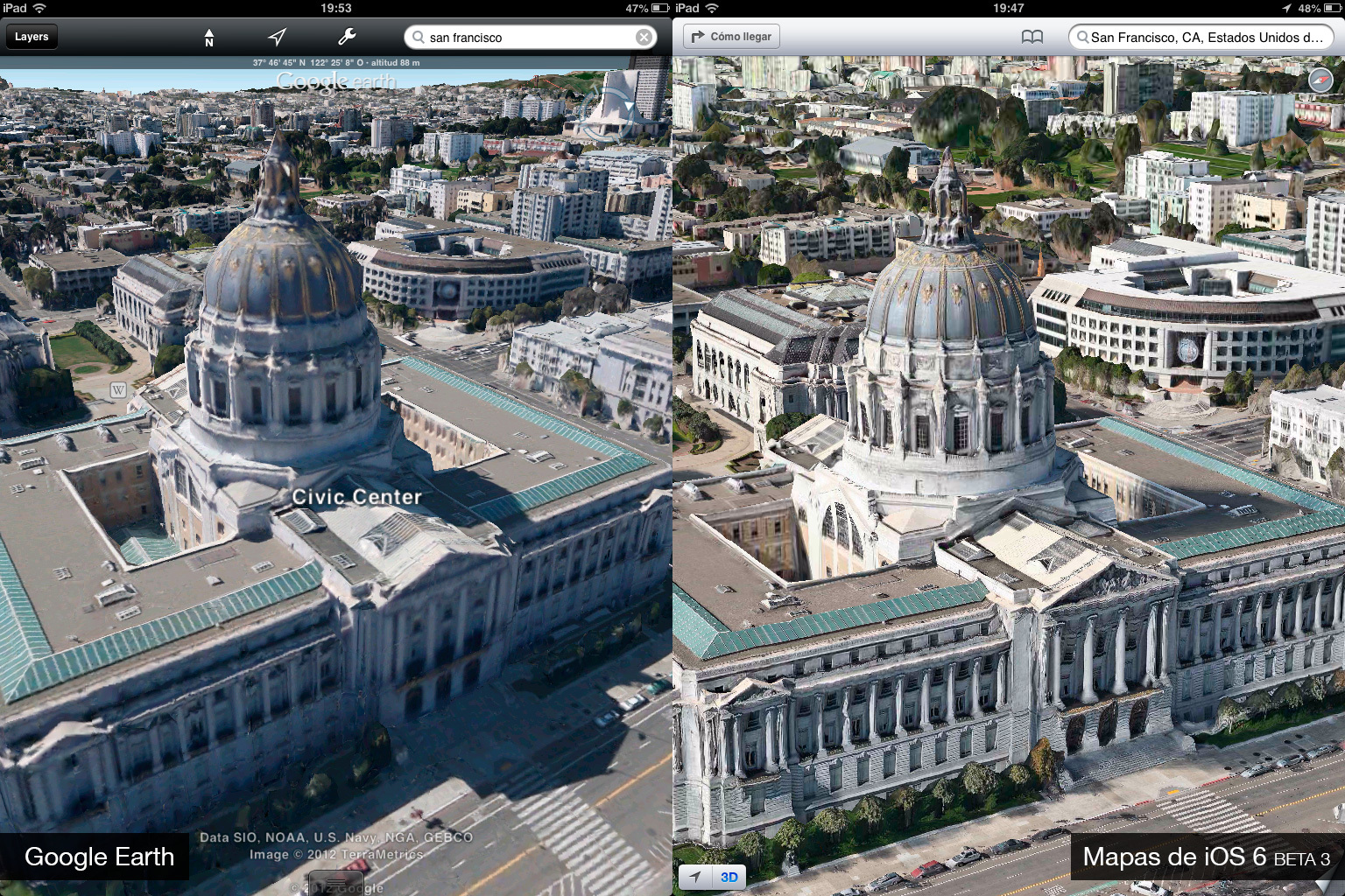 Foto de Google Earth 7.0 contra Mapas de iOS 6 (beta 3) (4/9)
