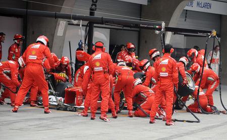 Ferrari se doctora en las paradas en boxes