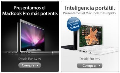 Apple renueva sus portátiles MacBook y MacBook Pro