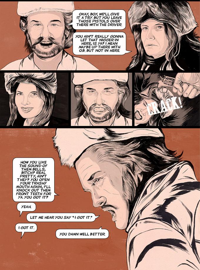 Foto de 'The Hateful Eight', cómic del principio de la historia (7/8)