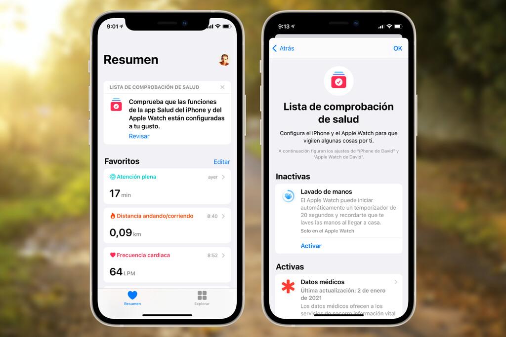 Cómo usar la lista de comprobación de la app Salud y asegurarnos de que todas las funciones están debidamente activadas