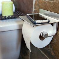 Oferta Flash: portarrollos de papel higiénico Wangel adhesivo, con soporte para móvil, por 12,74 euros