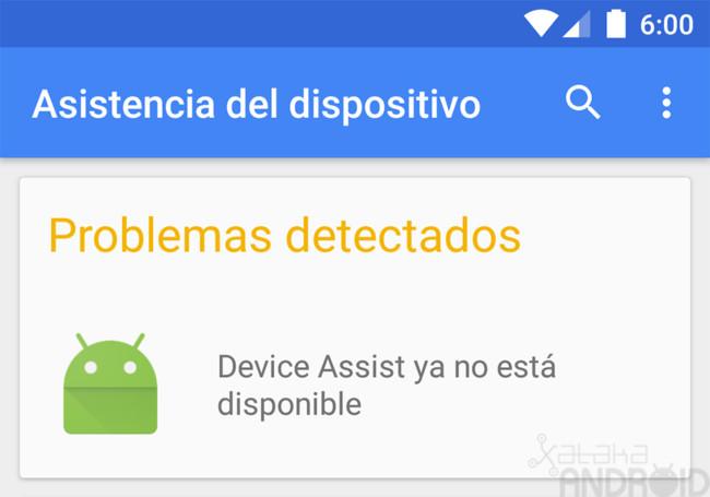 Asistencia del dispositivo