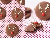 Recetas de Navidad para hacer con niños: Galletas reno de chocolate