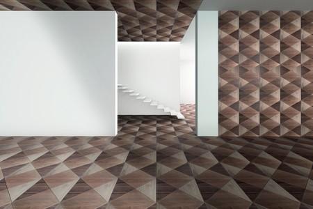Revestimientos vanguardistas: cuando el parquet y la geometría se convierten en arte depurado