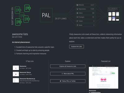 'Pretty Awesome Lists', más de 25.000 recursos para desarrolladores en un solo lugar