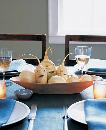 Decora tu mesa con rábanos y nabos