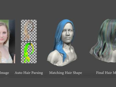 Este algoritmo roba el peinado de cualquier fotografía y lo convierte en un modelo 3D