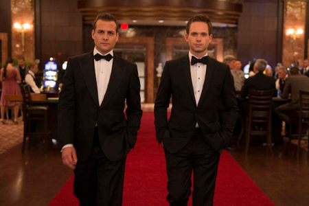 Suits on tuxedo