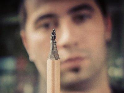 Las esculturas más pequeñas del mundo son éstas, creadas en la punta de un lápiz